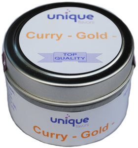 Curry Gold spice blend 2 oz tin jar Seasonings Unique Flavors LLC