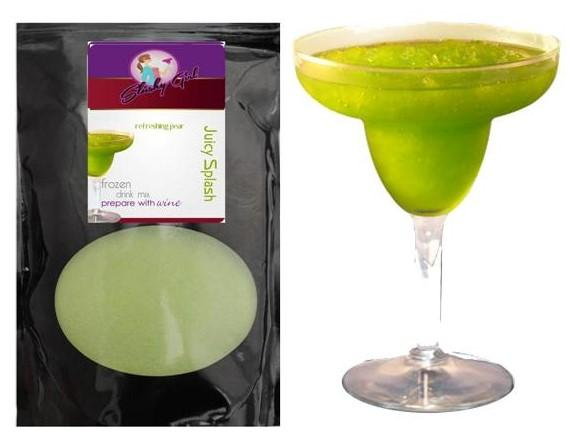Slushy Girl Juicy Splash Frozen Wine Slush Mix with refreshing pear flavor in 12 oz bag Wine slush mixes Unique Flavors LLC