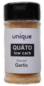 Keto diet spices QUÄTO low carb granulated California garlic by Unique Flavors 2 oz