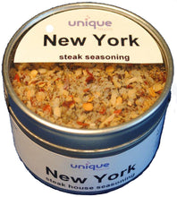 new york steak seasoning blend in 3.1 oz tin can by unique flavors