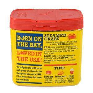 Old Bay can back side seafood seasoning by McCormick spices
