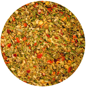 Spicy Italian inspired spice mix Tuscany for pizza with dry herbs and spices 1.5 oz tin Seasonings Unique Flavors LLC