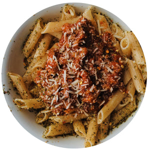 Tuscany italian seasoning on pasta