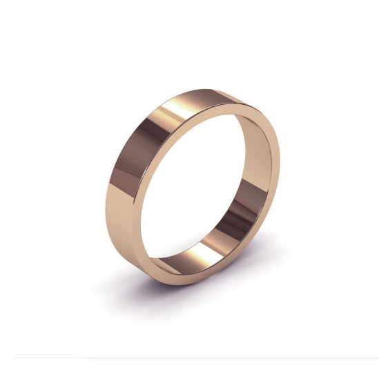 Ursa Flat  - 18ct Gold - 4mm Gold Wedding Band