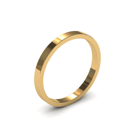 Ursa Flat  - 18ct Gold - 2mm Gold Wedding Band