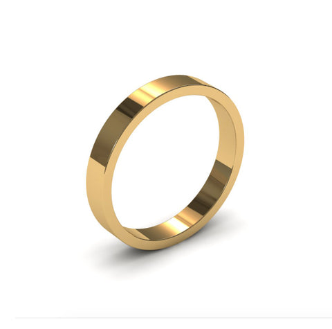Ursa Flat - 18ct Gold - 3mm Gold Wedding Band