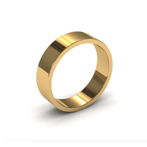 Ursa Flat - 18ct Gold - 5mm Gold Wedding Band