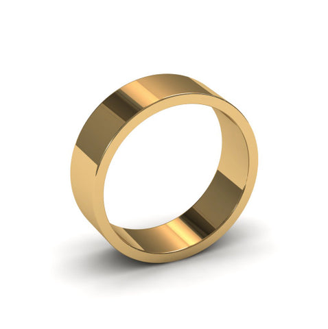 Ursa Flat - 18ct Gold - 6mm Gold Wedding Band