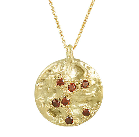 IXI Large Gold & Cognac Diamond Pendant Necklace