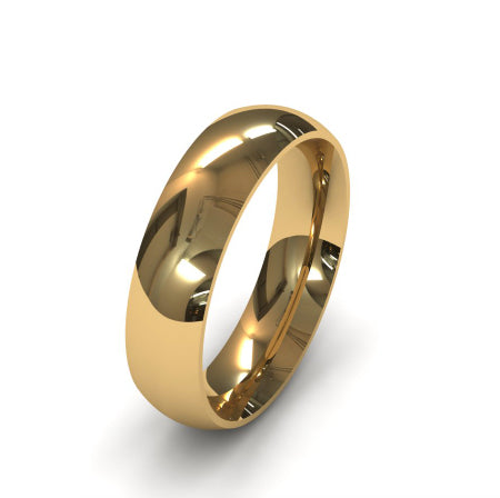 Ursa Comfort  - 18ct Gold - 5mm Gold Wedding Band