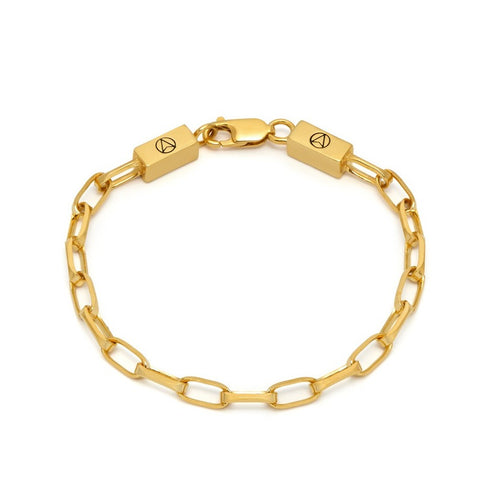 Cable Chain Link Bracelet in Gold