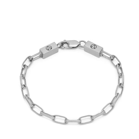 Cable Chain Link Bracelet in Silver