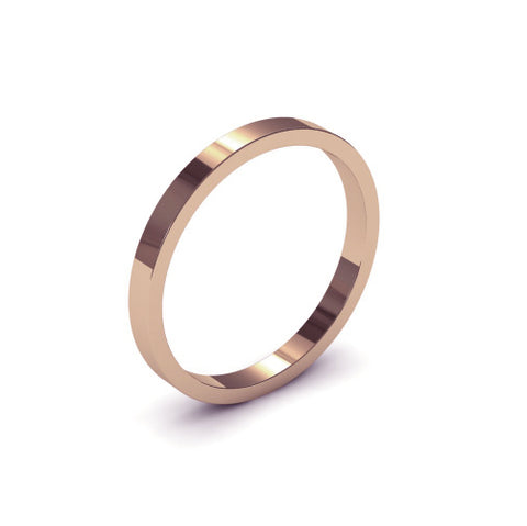 Ursa Flat  - 9ct Gold - 2mm Gold Wedding Band