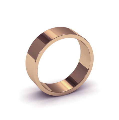 Ursa Flat - 9ct Gold - 6mm Gold Wedding Band