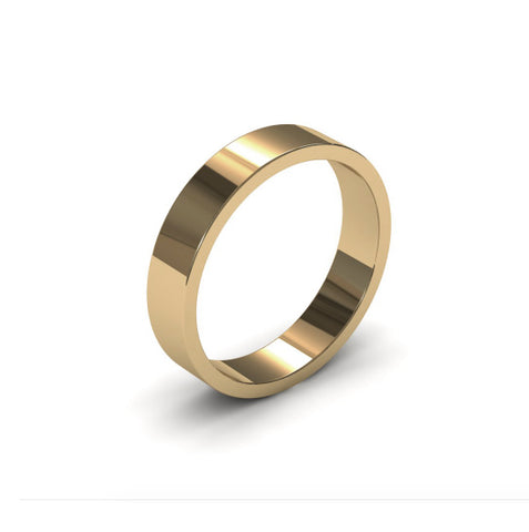 Ursa Flat - 9ct Gold - 4mm Gold Wedding Band