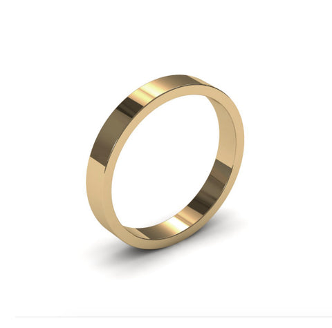 Ursa Flat - 9ct Gold - 3mm Gold Wedding Band