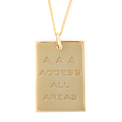 AAA PASS PENDANT GOLD