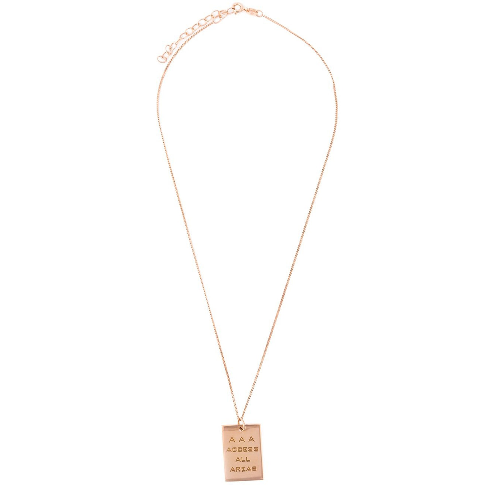 AAA PASS PENDANT ROSE GOLD