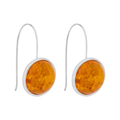 Arp Earrings Silver & Burnt Orange