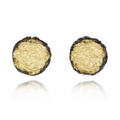 Pin Stud Earrings with Black Borders