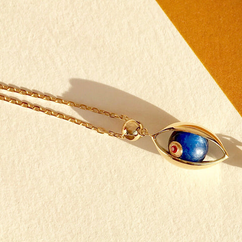 The Eye Necklace with Kyanite