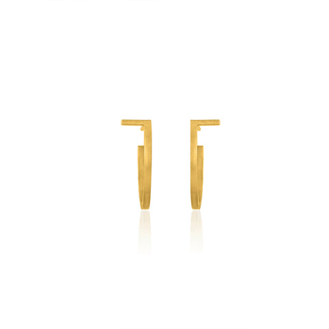 Unfinishing Line Gold hoop Earrings/Small