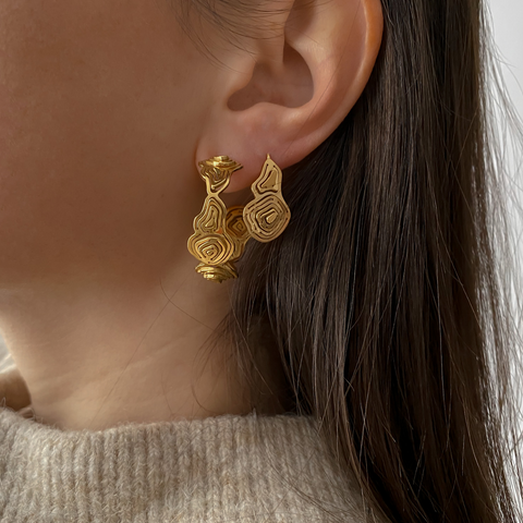 Pia Wire Earrings Gold