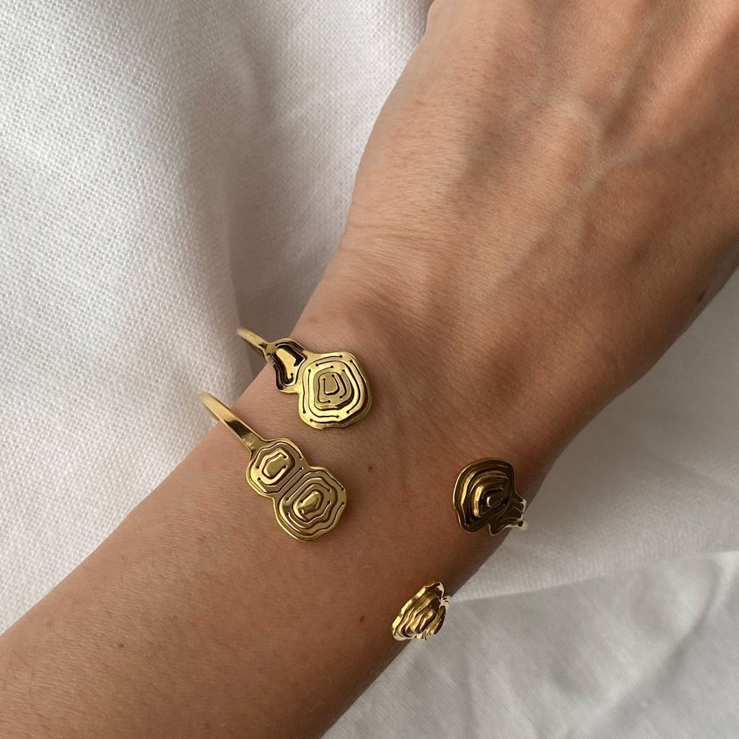 Pia Split Cuff Gold