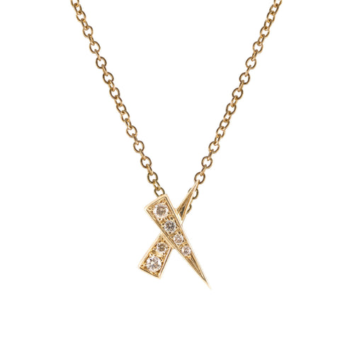 Diamond Pave Kiss Necklace