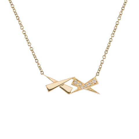 Kisses diamond pendant