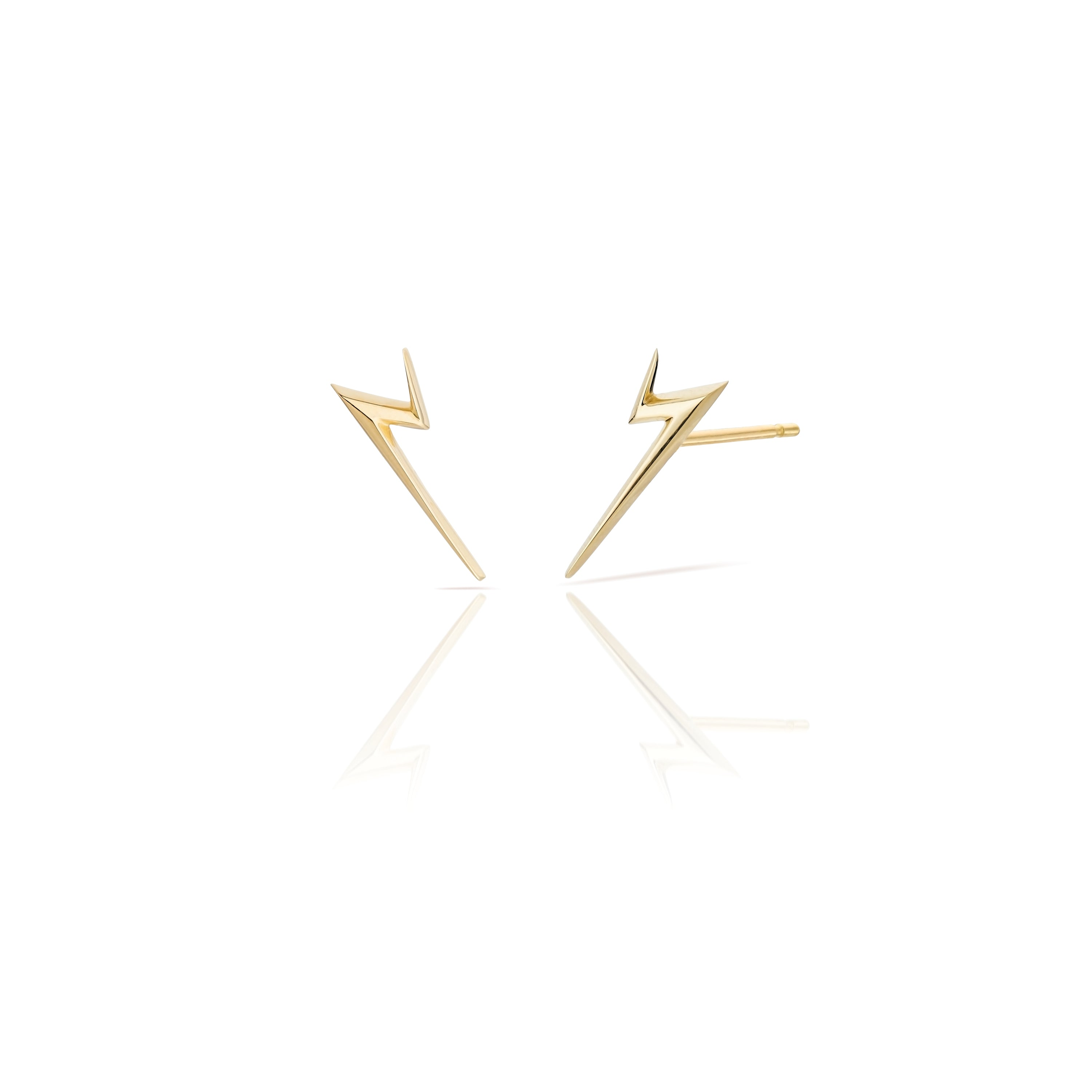 Thunderflash Studs 18K gold