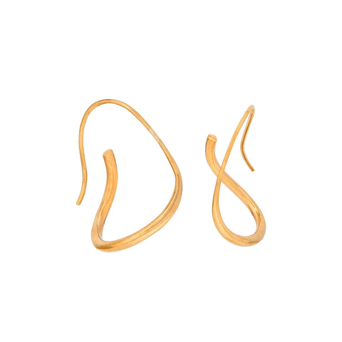 Piega Earrings Gold
