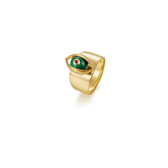The Eye Ring with Malachite