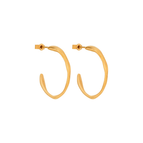 Ripple Earrings Gold