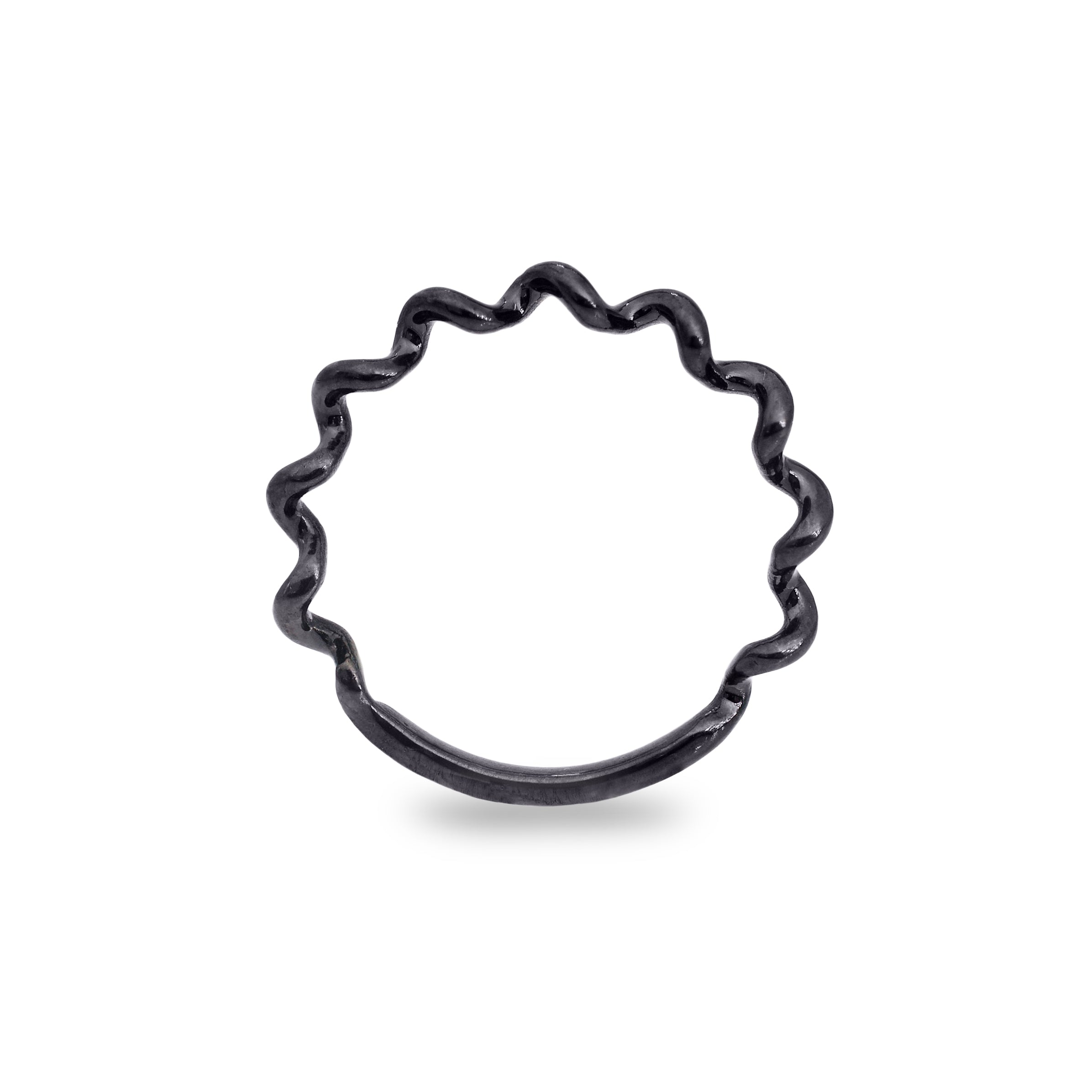 Twist Ring in Black Sterling Silver