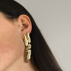 Saliana Long Drop Earrings Gold