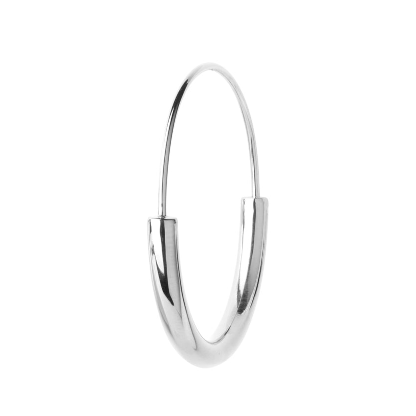 MEDIUM SERENDIPITY HOOP SILVER