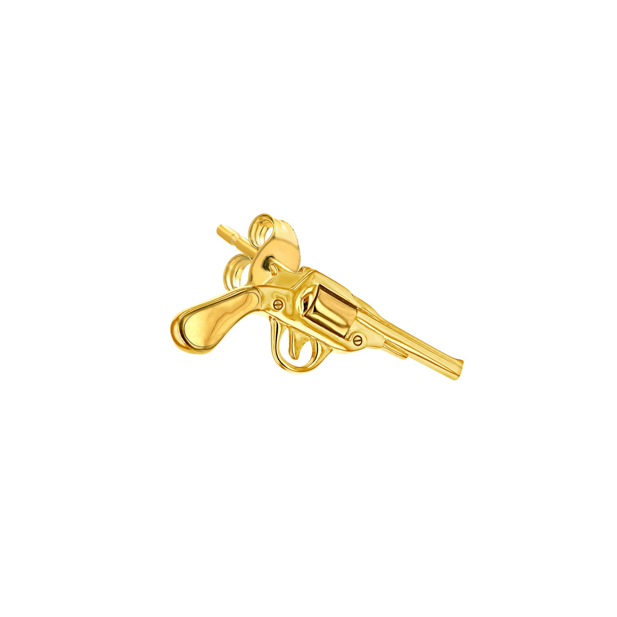 Pistol Stud Earring in Gold