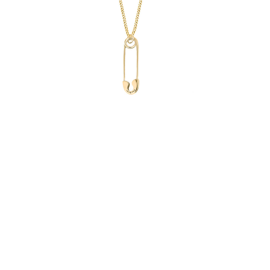Safety Pin Mini Pendant in Gold