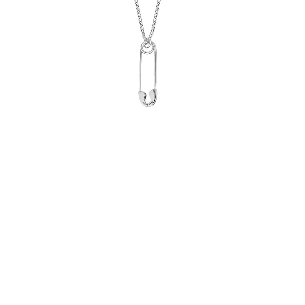 Safety Pin Mini Pendant in Silver