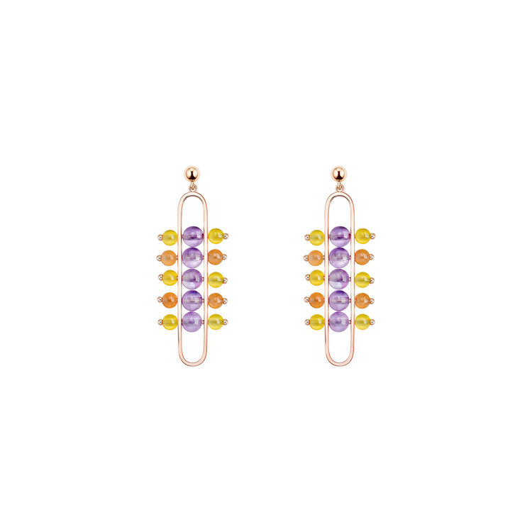 The Impressionists Dangle Earrings with Amethyst