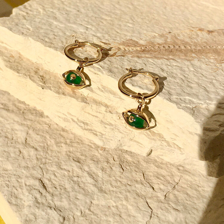 Mini Eye Hoop Earrings