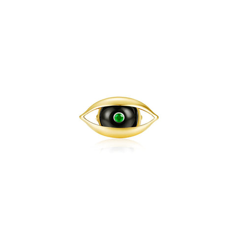 The Eye Brooch with Onyx