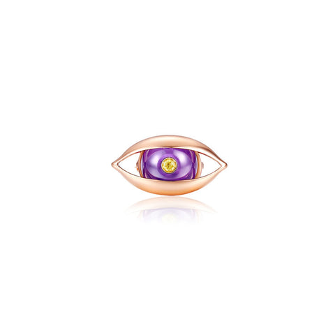 The Eye Brooch in Rose Gold