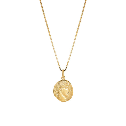 Apollo Coin Necklace Gold