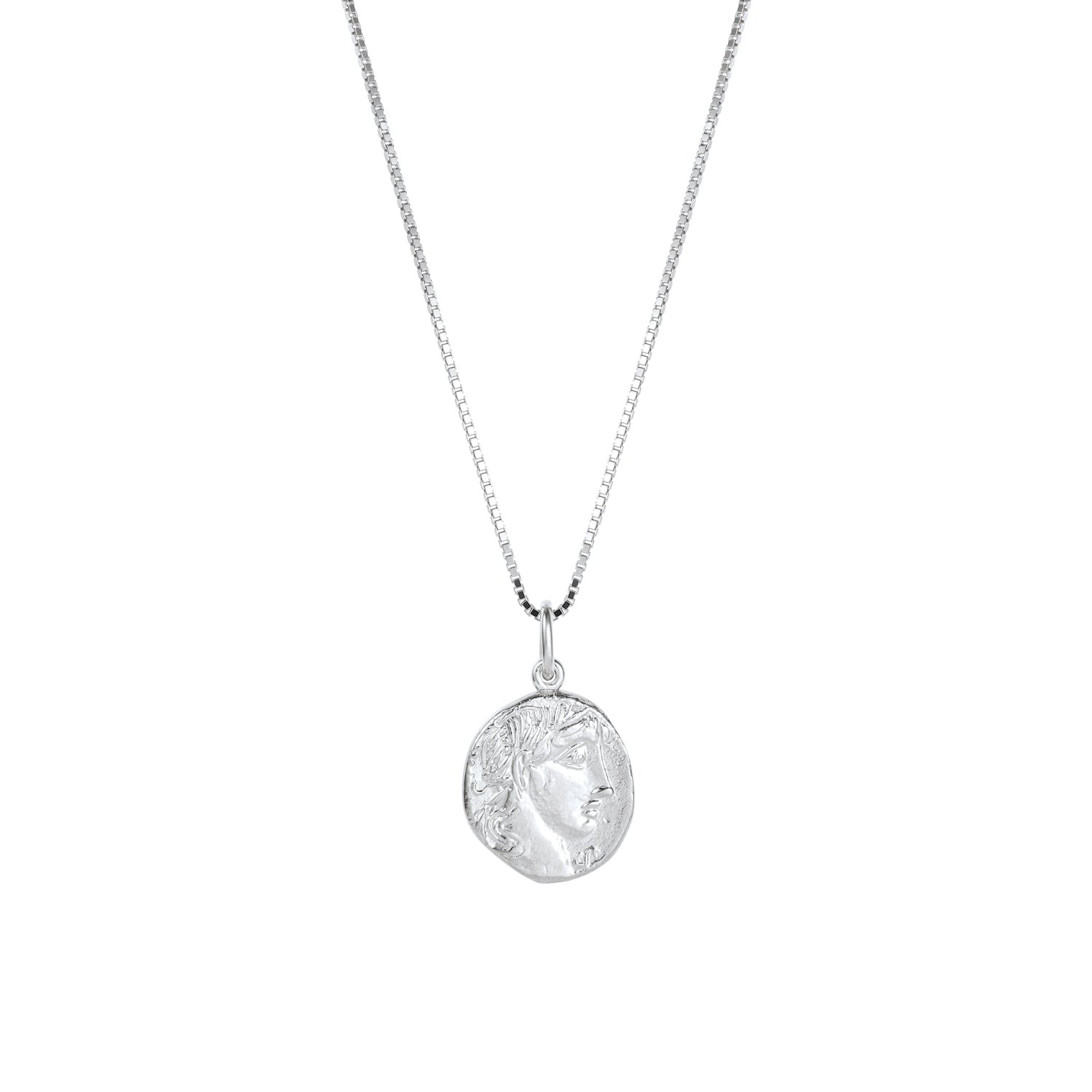Apollo Coin Necklace Silver