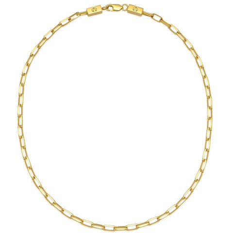 Large Cable Chain Link Necklace in Gold