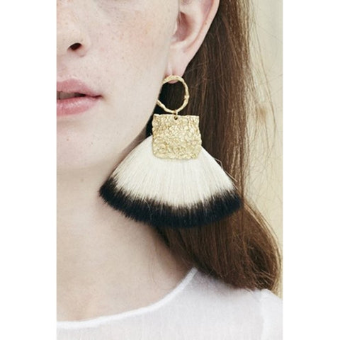 CANVAS CIRCLE EARRING