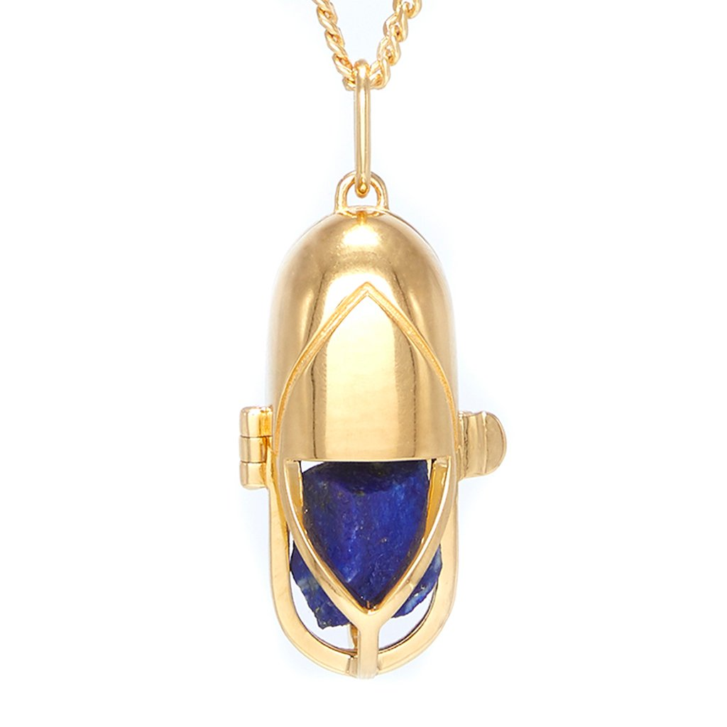 Capsule Crystal Pendant Gold