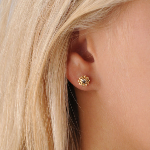 Aditi Gold Sherry Diamond Constellation Studs